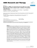 "Báo cáo y học: "" Predictive validity of a brief antiretroviral adherence index: Retrospective cohort analysis under conditions of repetitive administration"""
