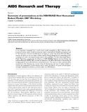"""Báo cáo y học: """"Summary of presentations at the NIH/NIAID New Humanized Rodent Models 2007 Workshop"""""""