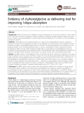 Evidence of d-phenylglycine as delivering tool for improving l-dopa absorption