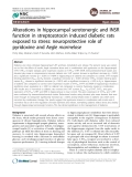 "Báo cáo y học: "" Alterations in hippocampal serotonergic and INSR function in streptozotocin induced diabetic rats exposed to stress: neuroprotective role of pyridoxine and Aegle marmelose"""