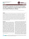 Quantitative evaluation of motor function before and after engraftment of dopaminergic neurons in a rat model of Parkinson's disease