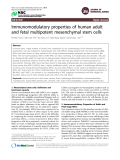"Báo cáo y học: ""Immunomodulatory properties of human adult and fetal multipotent mesenchymal stem """