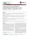 """Báo cáo y học: """" Colorectal carcinoma: nucleosomes, carcinoembryonic antigen and ca 19-9 as apoptotic markers; a comparative study"""""""