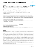 "Báo cáo y học: "" Reduction of the HIV-1 reservoir in resting CD4+ T-lymphocytes by high dosage intravenous immunoglobulin treatment: a proof-of-concept study"""