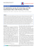 "Báo cáo y học: "" An exploratory survey of money boys and HIV transmission risk in Jilin Province, PR China"""