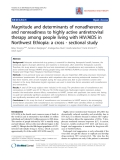 "Báo cáo y học: ""Magnitude and determinants of nonadherence and nonreadiness to highly active antiretroviral therapy among people living with HIV/AIDS in Northwest Ethiopia: a cross - sectional study"""