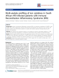 """Báo cáo y học: """" Multi-analyte profiling of ten cytokines in South African HIV-infected patients with Immune Reconstitution Inflammatory Syndrome (IRIS)"""""""