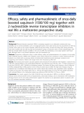 "Báo cáo y học: "" Efficacy, safety and pharmacokinetic of once-daily boosted saquinavir (1500/100 mg) together with 2 nucleos(t)ide reverse transcriptase inhibitors in real life: a multicentre prospective study"""