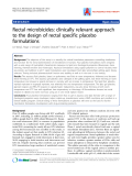 "Báo cáo y học: "" Rectal microbicides: clinically relevant approach to the design of rectal specific placebo formulations."""