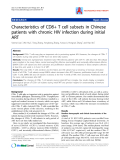 "Báo cáo y học: "" Characteristics of CD8+ T cell subsets in Chinese patients with chronic HIV infection during initial ART"""