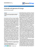 "Báo cáo y học: ""A decade and genome of change"""