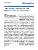 "Báo cáo y học: ""GWASs and the age of human as the model organism for autoimmune genetic research"""