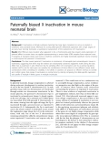 """Báo cáo y học: """"Paternally biased X inactivation in mouse neonatal brain"""""""