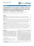 """Báo cáo y học: """" Comprehensive transcriptome analysis of mouse embryonic stem cell adipogenesis unravels new processes of adipocyte development"""""""