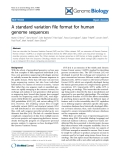 """Báo cáo y học: """" A standard variation file format for human genome sequence"""""""
