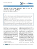 "Báo cáo y học: ""The rate of the molecular clock and the cost of gratuitous protein synthesis."""