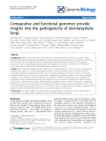 "Báo cáo y học: ""omparative and functional genomics provide insights into the pathogenicity of dermatophytic fungi"""