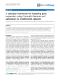 """Báo cáo y học: """"A statistical framework for modeling gene expression using chromatin features and application to modENCODE datasets"""""""