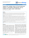 """Báo cáo y học: """" support for multiple classes of local expression clusters in Drosophila melanogaster, but no evidence for gene order conservation"""""""