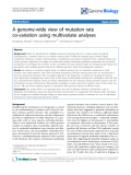 "Báo cáo y học: ""A genome-wide view of mutation rate co-variation using multivariate analyses"""