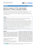 """Báo cáo y học: """"Genome sequence of the stramenopile Blastocystis, a human anaerobic parasite"""""""