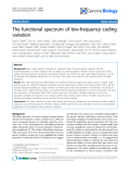 "Báo cáo y học: ""The functional spectrum of low-frequency coding variation"""