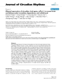 """Báo cáo y học: """"Altered expression of circadian clock gene, mPer1, in mouse brain and kidney under morphine dependence and withdrawal"""""""
