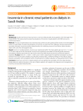 "Báo cáo y học: ""nsomnia in chronic renal patients on dialysis in Saudi Arabia"""