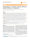 "Báo cáo y học: ""Polymorphisms in melatonin synthesis pathways: possible influences on depression"""