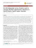 "Báo cáo y học: ""An ethnobotanical survey of plants used to manage HIV/AIDS opportunistic infections in Katima Mulilo, Caprivi region, Namibia"""