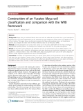 "Báo cáo y học: ""onstruction of an Yucatec Maya soil classification and comparison with the WRB framework"""