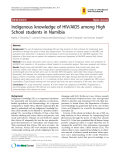 "Báo cáo y học: "" Indigenous knowledge of HIV/AIDS among High School students in Namibia"""