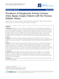 "Báo cáo y học: ""Prevalence of Dysglycemia Among Coronary Artery Bypass Surgery Patients with No Previous Diabetic History"""