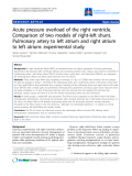 """Báo cáo y học: """"Acute pressure overload of the right ventricle. Comparison of two models of right-left shunt. Pulmonary artery to left atrium and right atrium to left atrium: experimental study"""""""