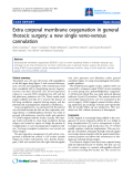 "Báo cáo y học: ""Extra corporal membrane oxygenation in general thoracic surgery: a new single veno-venous cannulatio"""