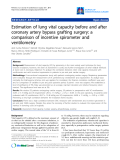 "Báo cáo y học: ""Estimation of lung vital capacity before and after coronary artery bypass grafting surgery: a comparison of incentive spirometer and ventilometry"""