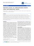 "Báo cáo y học: ""Sternalis muscle: an underestimated anterior chest wall anatomical variant"""