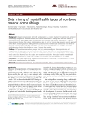 "Báo cáo y học: ""Data mining of mental health issues of non-bone marrow donor siblings."""