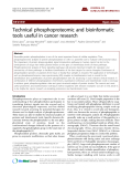 "Báo cáo y học: ""Technical phosphoproteomic and bioinformatic tools useful in cancer research"""