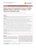 """Báo cáo y học: """"Dietary Use and Conservation Concern of Edible Wetland Plants at Indo-Burma Hotspot: A Case Study from Northeast India"""""""