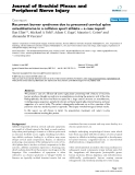 """Báo cáo y học: """" Recurrent burner syndrome due to presumed cervical spine osteoblastoma in a collision sport athlete – a case report"""""""