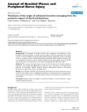 """Báo cáo y học: """"Variations of the origin of collateral branches emerging from the posterior aspect of the brachial plexus"""""""