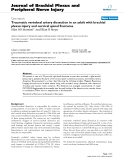 "Báo cáo y học: ""Traumatic vertebral artery dissection in an adult with brachial plexus injury and cervical spinal fracture"""
