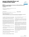 "Báo cáo y học: ""Editorial on participating in the Journal of Brachial Plexus and Peripheral Nerve Injur"""