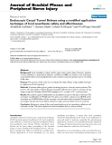 "Báo cáo y học: ""Endoscopic Carpal Tunnel Release using a modified application technique of local anesthesia: safety and effectiveness."""