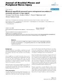 """Báo cáo y học: """"Bilateral superficial peroneal nerve entrapment secondary to anorexia nervosa: a case repor"""""""