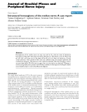 "Báo cáo y học: ""Intraneural hemangioma of the median nerve: A case report"""