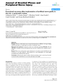 """Báo cáo y học: """"Functional recovery after implantation of artificial nerve grafts in the rat- a systematic review"""""""