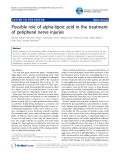 "Báo cáo y học: ""Possible role of alpha-lipoic acid in the treatment of peripheral nerve injuries"""