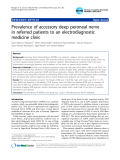 "Báo cáo y học: ""Prevalence of accessory deep peroneal nerve in referred patients to an electrodiagnostic medicine clinic"""